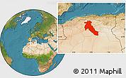 Satellite Location Map of Djelfa