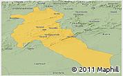Savanna Style Panoramic Map of Djelfa
