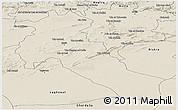Shaded Relief Panoramic Map of Djelfa