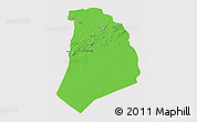 Political 3D Map of El Bayadh, cropped outside
