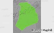 Political 3D Map of El Bayadh, desaturated