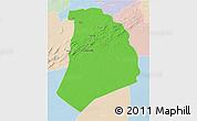 Political 3D Map of El Bayadh, lighten