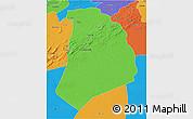 Political 3D Map of El Bayadh