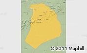 Savanna Style 3D Map of El Bayadh