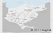 Gray 3D Map of El Tarf, single color outside