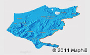 Political 3D Map of El Tarf, cropped outside