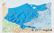 Political 3D Map of El Tarf, lighten