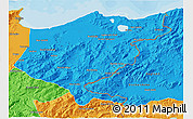 Political 3D Map of El Tarf