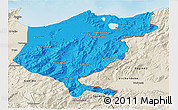 Political 3D Map of El Tarf, shaded relief outside