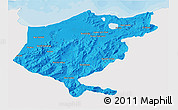 Political 3D Map of El Tarf, single color outside