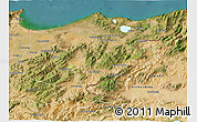 Satellite 3D Map of El Tarf