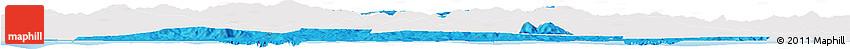 Political Horizon Map of El Tarf, single color outside