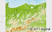 Physical Map of El Tarf