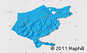 Political Map of El Tarf, cropped outside