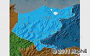 Political Map of El Tarf, darken