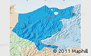 Political Map of El Tarf, lighten