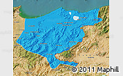 Political Map of El Tarf, satellite outside