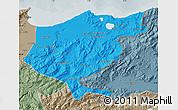 Political Map of El Tarf, semi-desaturated