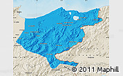 Political Map of El Tarf, shaded relief outside