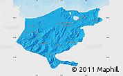 Political Map of El Tarf, single color outside
