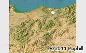 Satellite Map of El Tarf
