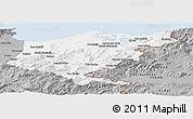 Gray Panoramic Map of El Tarf