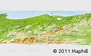 Physical Panoramic Map of El Tarf