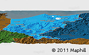 Political Panoramic Map of El Tarf, darken
