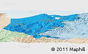 Political Panoramic Map of El Tarf, lighten