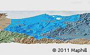 Political Panoramic Map of El Tarf, semi-desaturated