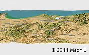 Satellite Panoramic Map of El Tarf