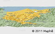 Savanna Style Panoramic Map of El Tarf