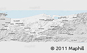 Silver Style Panoramic Map of El Tarf