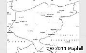 Blank Simple Map of El Tarf