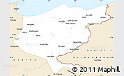 Classic Style Simple Map of El Tarf