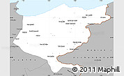 Gray Simple Map of El Tarf