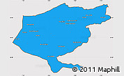 Political Simple Map of El Tarf, cropped outside