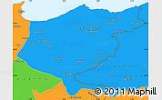 Political Simple Map of El Tarf