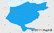Political Simple Map of El Tarf, single color outside