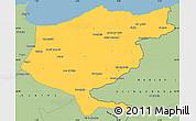 Savanna Style Simple Map of El Tarf