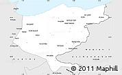 Silver Style Simple Map of El Tarf