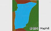 Political 3D Map of GhardaSa, darken