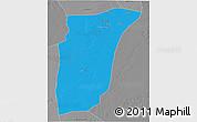 Political 3D Map of GhardaSa, desaturated