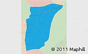 Political 3D Map of GhardaSa, lighten
