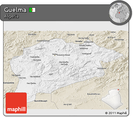 Classic Style 3D Map of Guelma