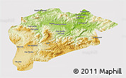 Physical 3D Map of Guelma, cropped outside