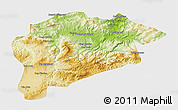 Physical 3D Map of Guelma, single color outside