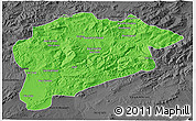 Political 3D Map of Guelma, darken, desaturated