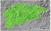 Political 3D Map of Guelma, desaturated
