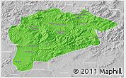 Political 3D Map of Guelma, lighten, desaturated